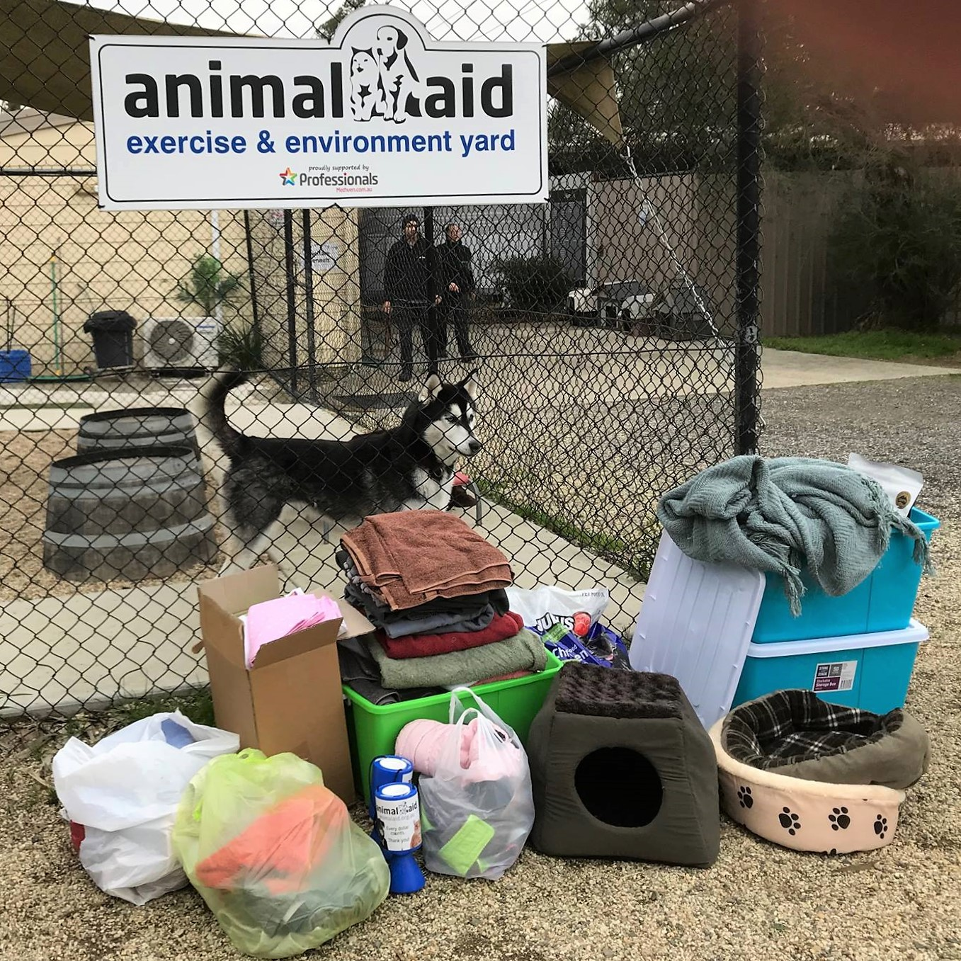 Donation of goods to Animal Aid